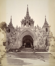 Rangoon. The South Entrance to the Shwe Dagon Pagoda